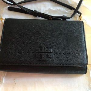 Tory Burch crossbody wristlet Black  8 x 5 Bag